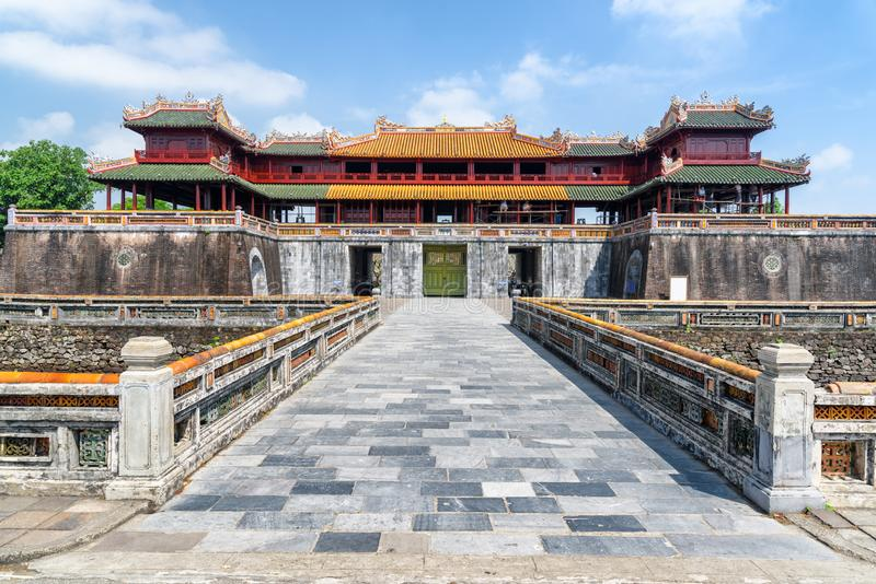 The Meridian Gate to the Imperial City, Hue, Vietnam royalty free stock photo