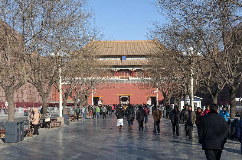 Meridian Gate (Wumen) of Beijing Forbidden City royalty free stock images