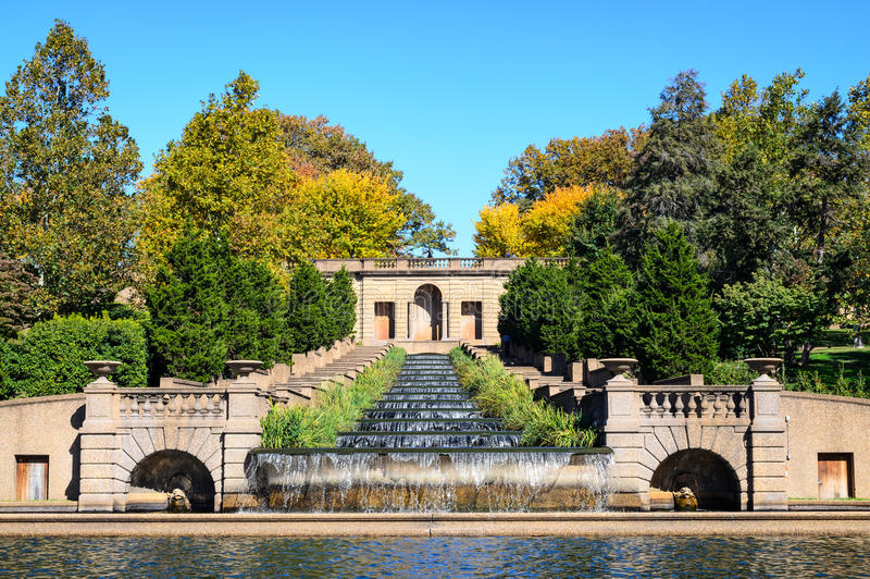 Meridian Hill. Monument Waterfall Malcolm X royalty free stock photos