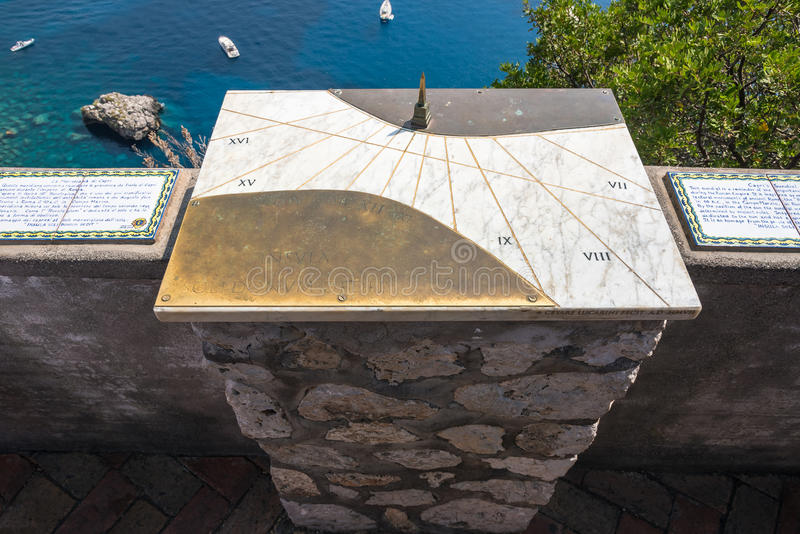 Meridiana di Capri fotografia stock libera da diritti