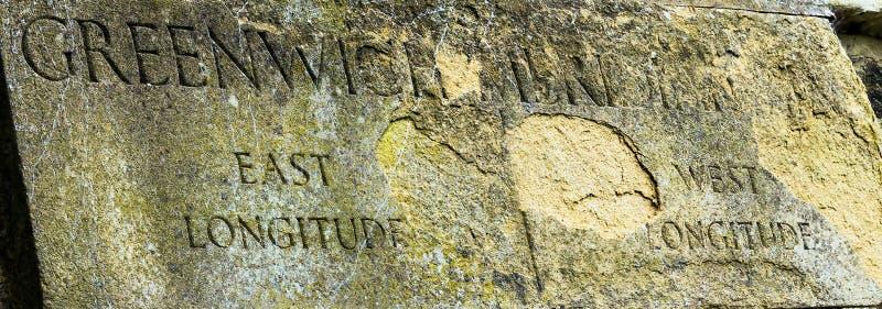 Meridiano principal Greenwich, Londres, Reino Unido imagem de stock