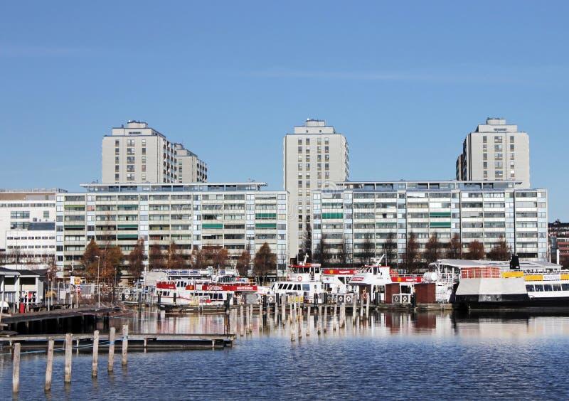 Merihaka, Helsinki, Finnland stockfotografie