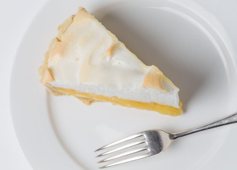 Meringe del limón desde arriba fotos de archivo libres de regalías