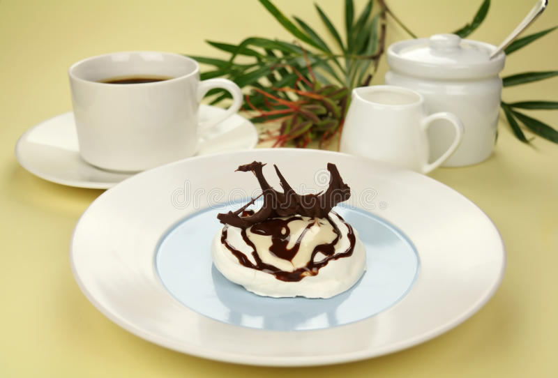 meringue шоколада стоковая фотография