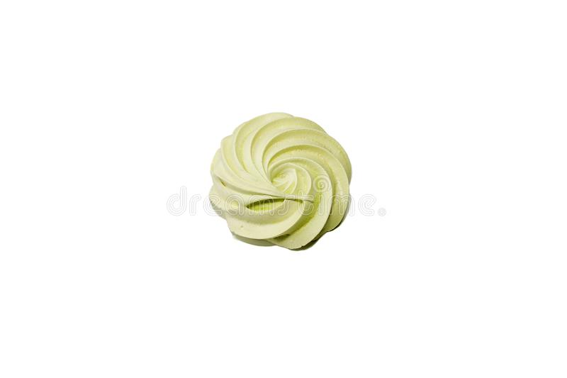 Meringues on a white background royalty free stock photography