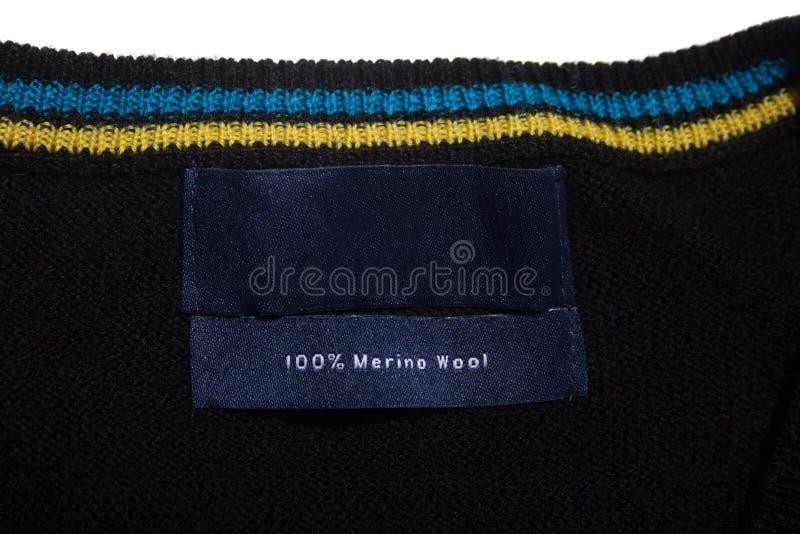 Merino ярлык шерстей стоковые фотографии rf