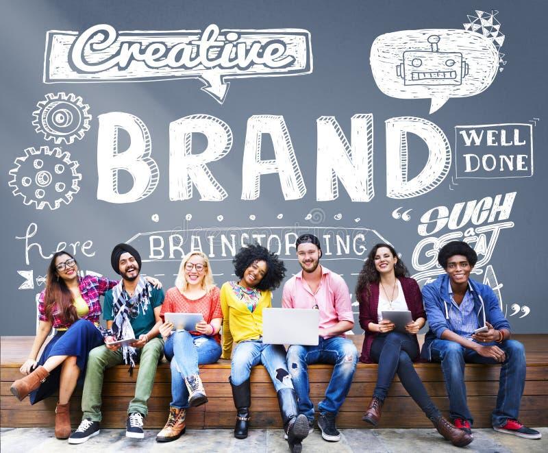 Merk die Copyright-Handelsmerk Marketing Concept brandmerken stock afbeeldingen