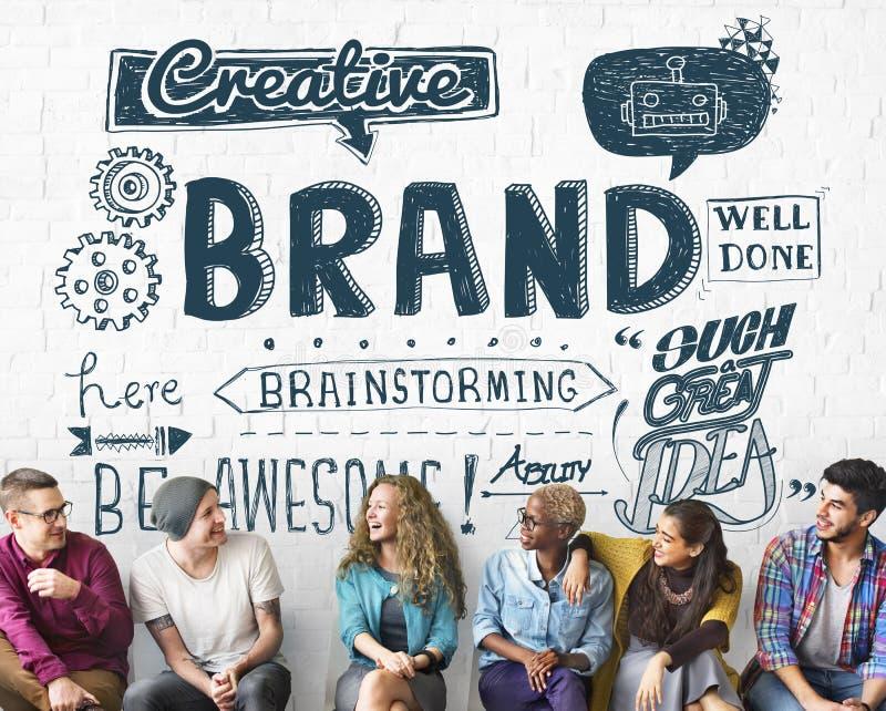 Merk het Brandmerken Reclame Commercieel Marketing Concept stock fotografie