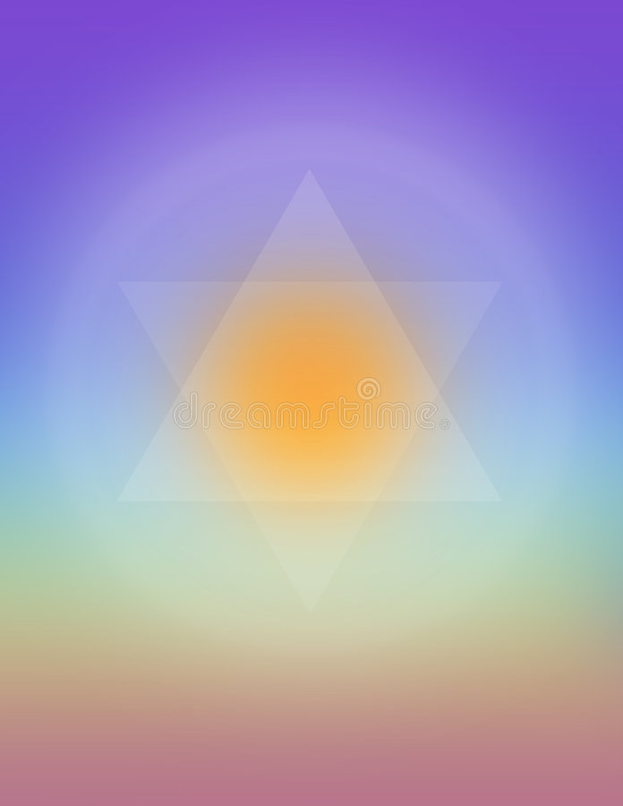 Merkaba stock illustratie