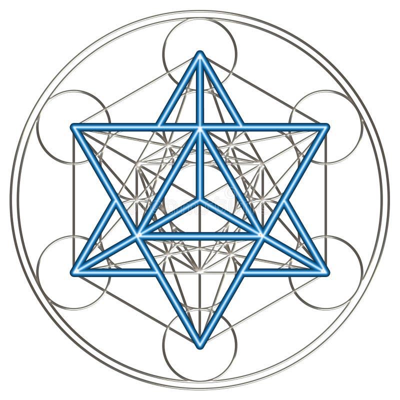 Cubo de Merkaba - de Metatrons ilustração royalty free