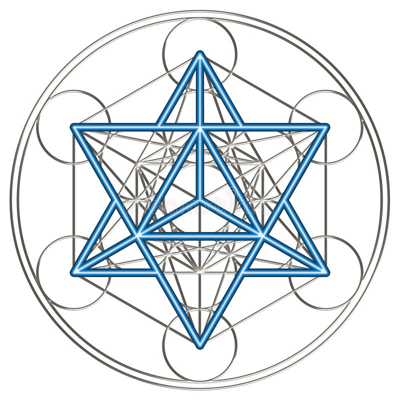 Merkaba - Metatrons kub royaltyfri illustrationer