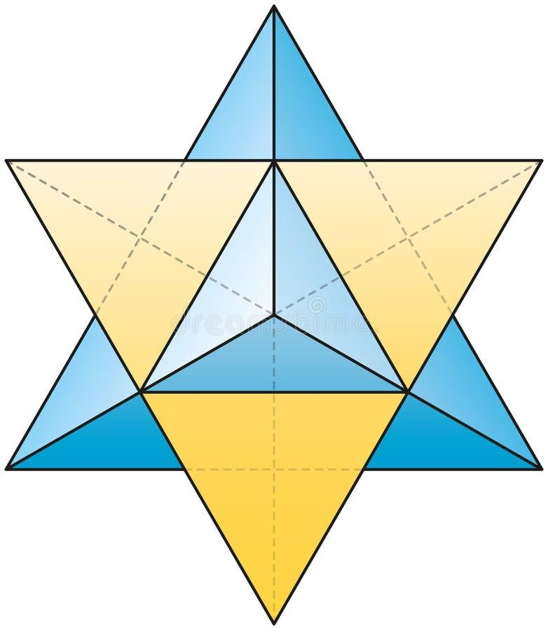 Merkabah - tetraedro de la estrella ilustración del vector