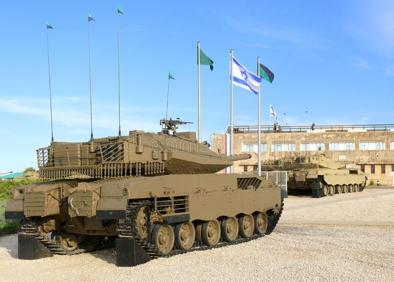 Download Merkava - Israeli Battle Tanks. Stock Image - Image of latrun, armored: 14369385