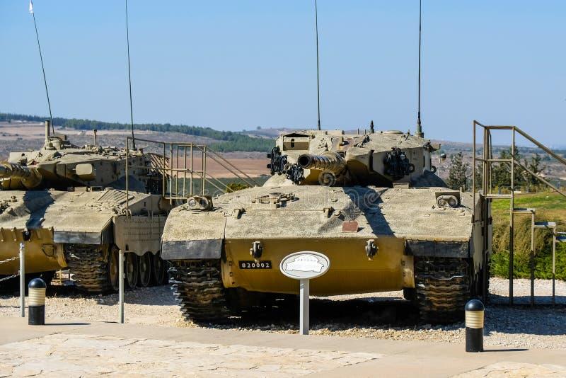 Merkava, israeli main battle tank. Israeli Armored Corps Museum at Latrun stock photography