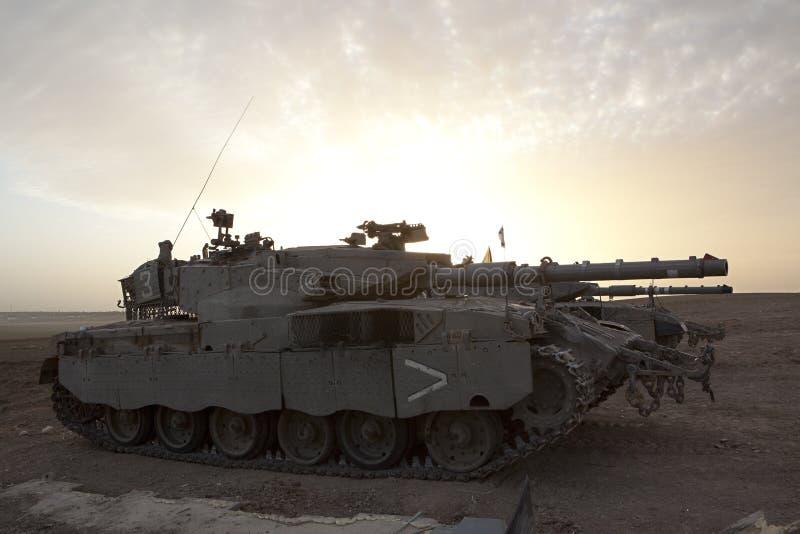 Merkava Mk 4 Baz Main Battle Tank. Israeli - Palestinian conflict. Israeli military operation Cast Lead. Israeli tank Merkava ( Mercava) Mk 4 on border with Gaza royalty free stock image