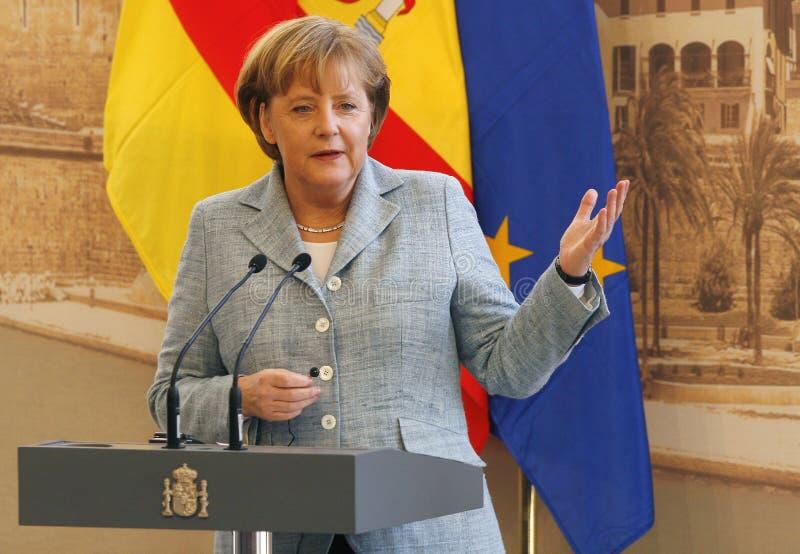 Merkel 012. Angela Merkel, German chancellor seen during a press conference during a Hispano-German meet held in Mallorca, Spain stock photos