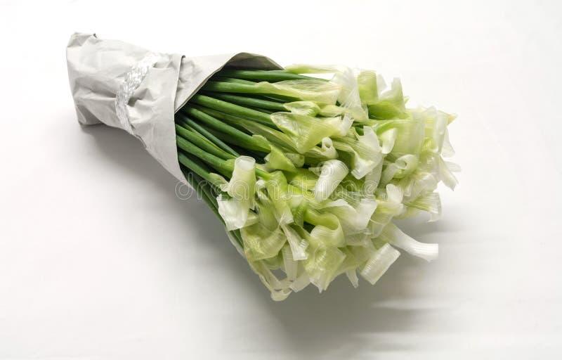 Merkwürdige Blumen, umgedrehter Schnittlauch lizenzfreies stockfoto
