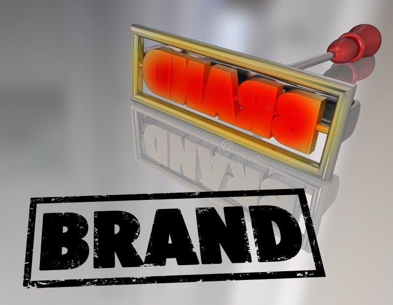 Merkword Brandijzer Marketing Producteigendom vector illustratie