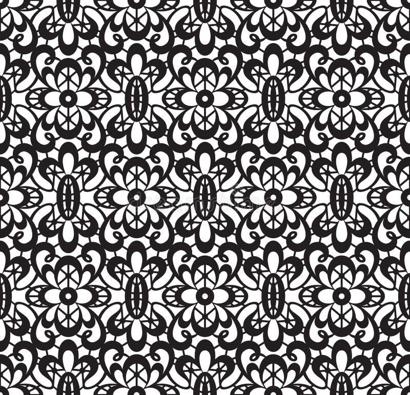 Merletto nero senza giunte illustrazione vettoriale