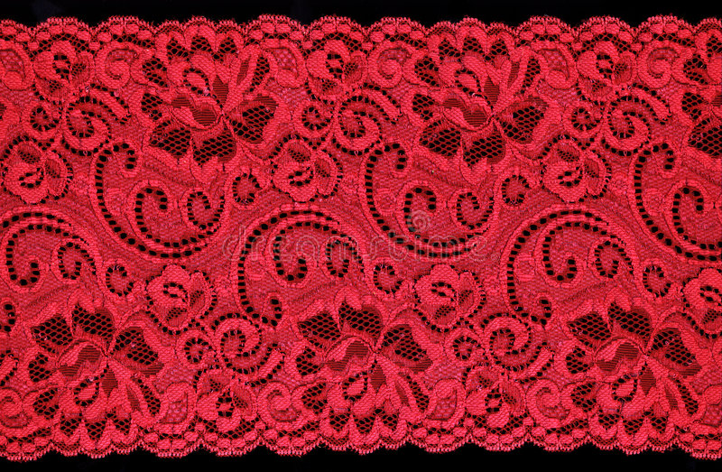 Merletto rosso fotografia stock