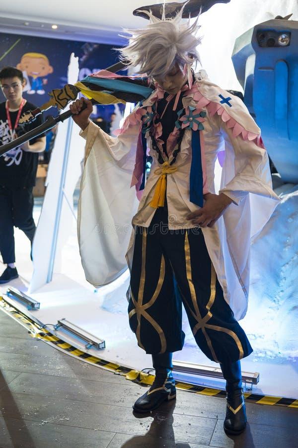 Merlin cosplayer στη Sony EXPO 2019 στοκ εικόνα