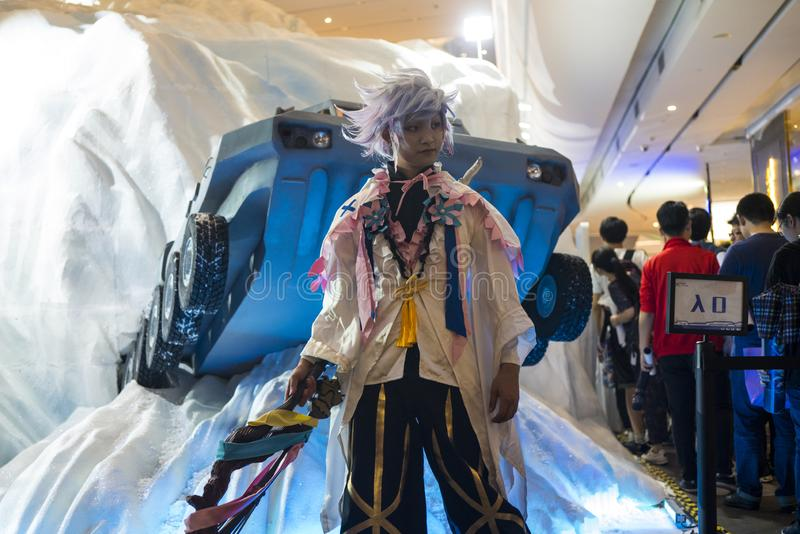 Merlin cosplayer στη Sony EXPO 2019 στοκ φωτογραφία