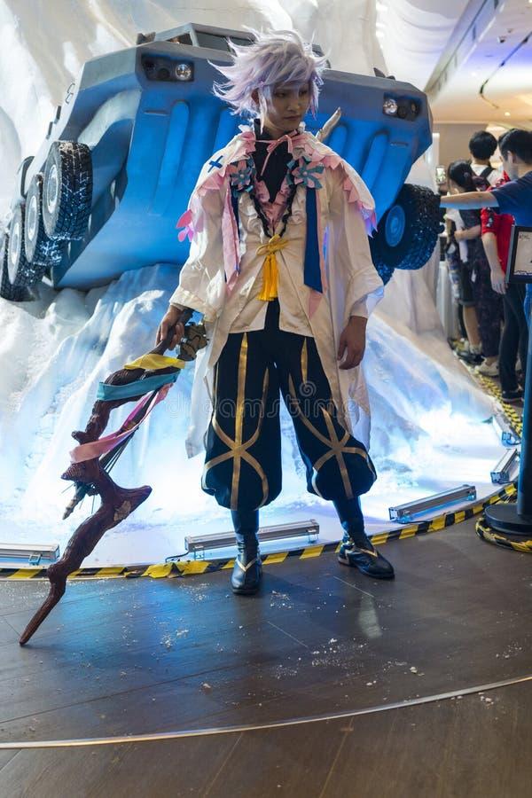 Merlin cosplayer στη Sony EXPO 2019 στοκ φωτογραφία με δικαίωμα ελεύθερης χρήσης