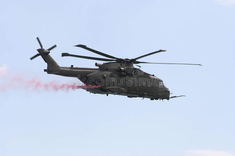 Merlin hc3 helicopter. royalty free stock images