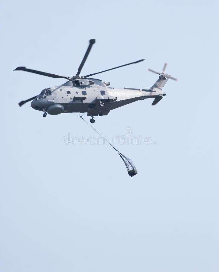 Download Merlin Helicopter Lifting Cargo Stock Photo - Image: 15254872