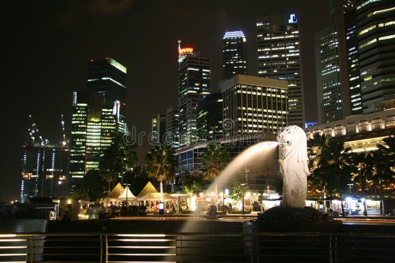 merlion新加坡 免版税图库摄影
