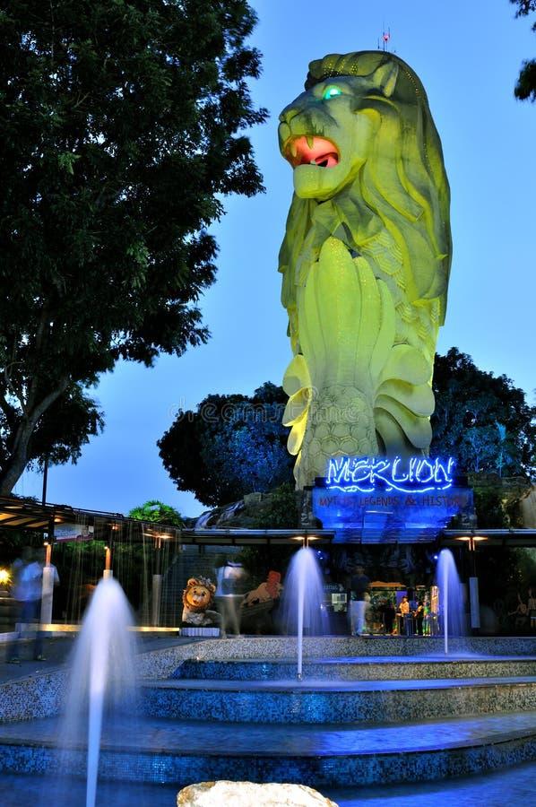 Merlion de Singapur foto de archivo libre de regalías