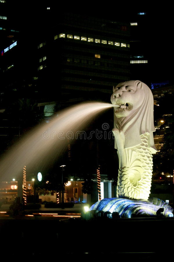 Merlion em Singapore foto de stock royalty free