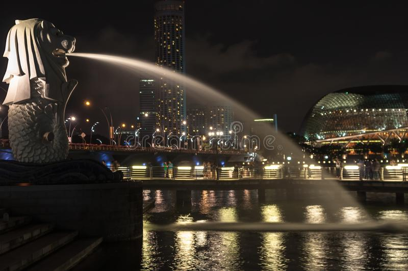 Merlion in singapore stock photography