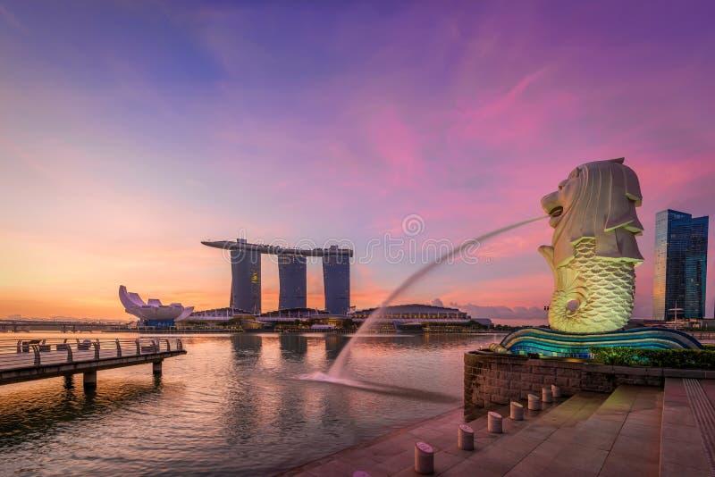 Merlion in Singapore stock afbeeldingen