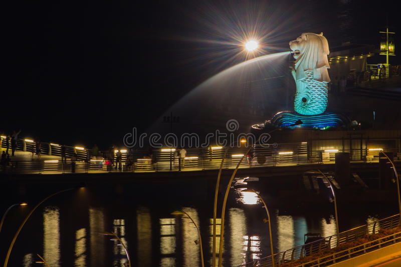 Merlion in Singapore stock photos