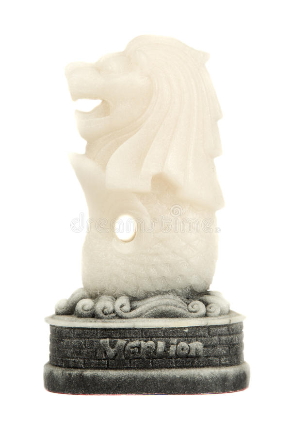 Merlion Singapore paperweight royalty free stock photos