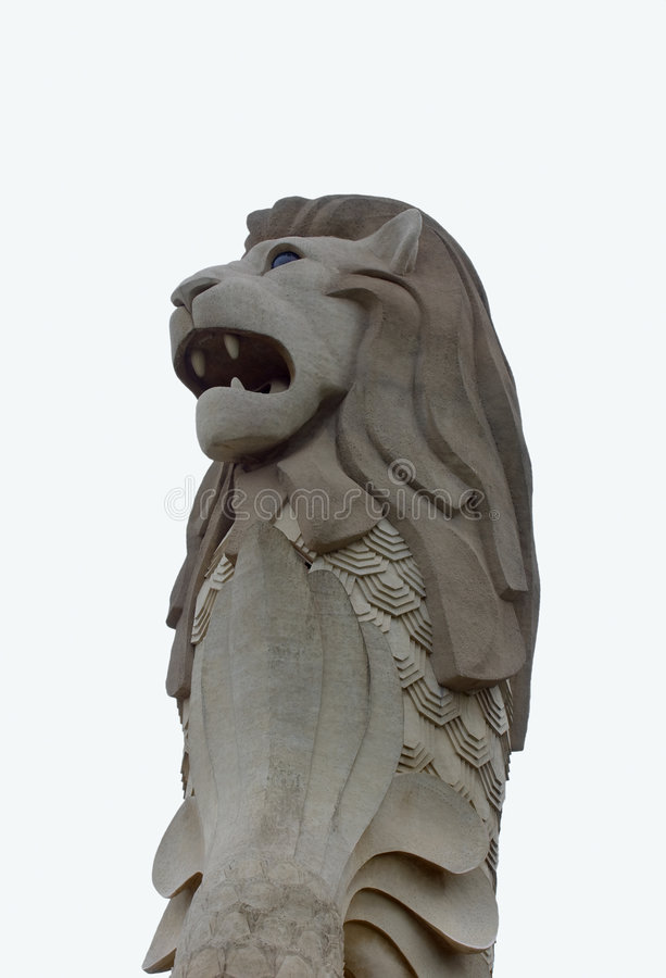 The Merlion statue royalty free stock photo
