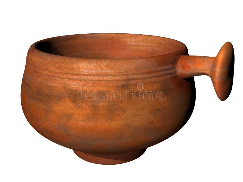 Merlo acquaiolo romano antico illustrazione vettoriale