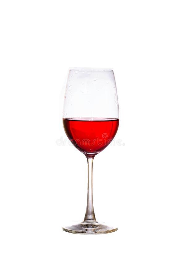 Merlotweinglas lokalisiert lizenzfreies stockbild