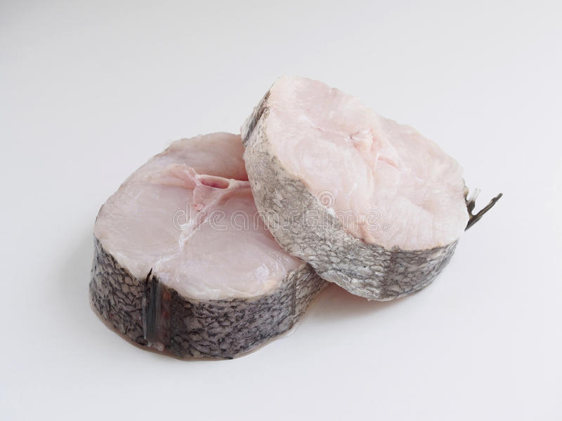 Merluches coupées en tranches photos stock