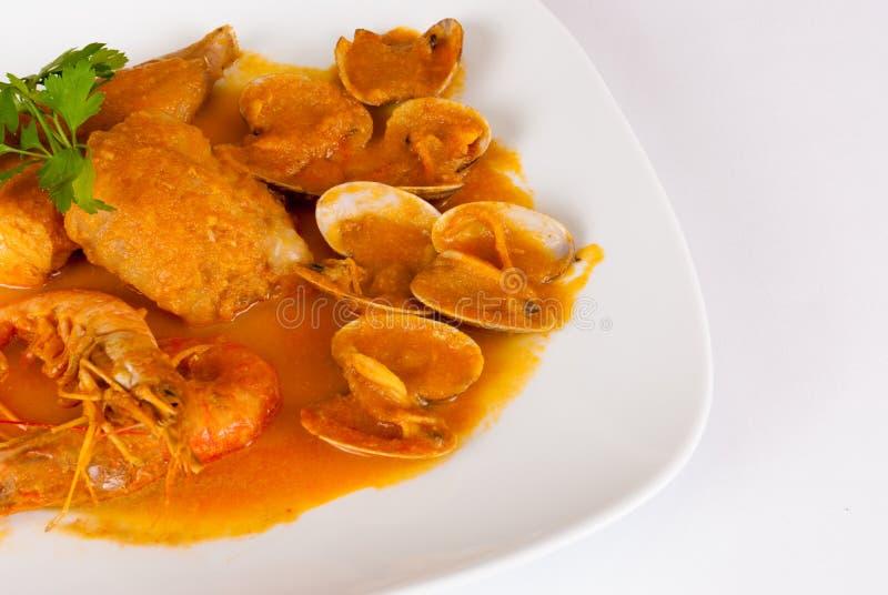 Merluches en sauce à cidre image libre de droits