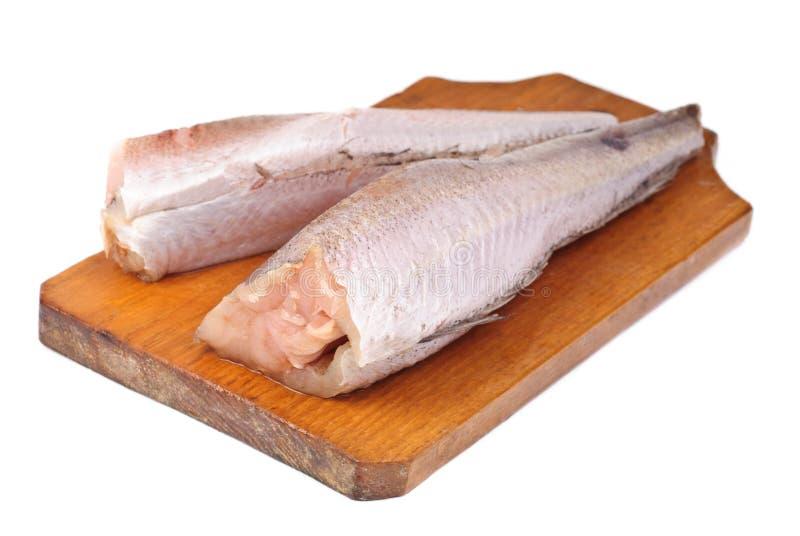 Merluches surgelées de poissons photo stock