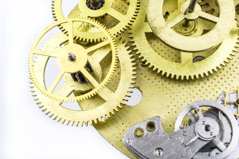 Merluzzo-ruote di vecchio meccanismo da un bronzo dalla fine su fotografia stock libera da diritti