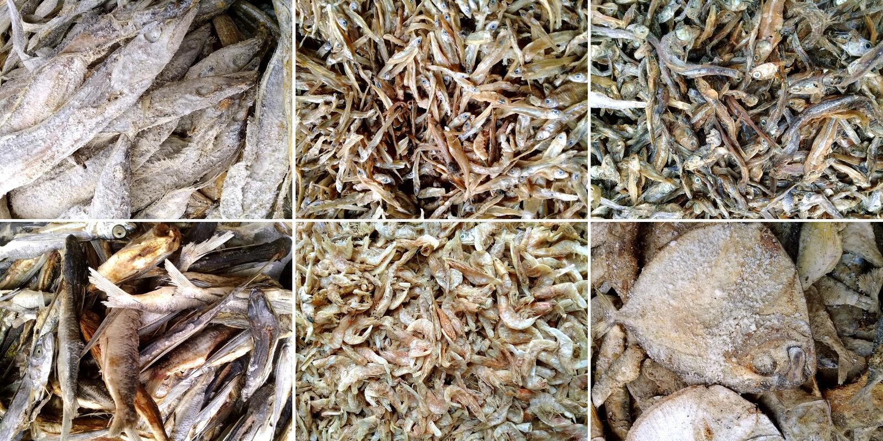 Merluzzo salato differente secco fotografia stock libera da diritti