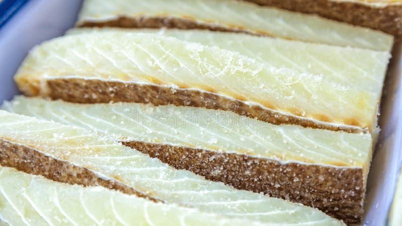 Merluzzo salato secco immagini stock