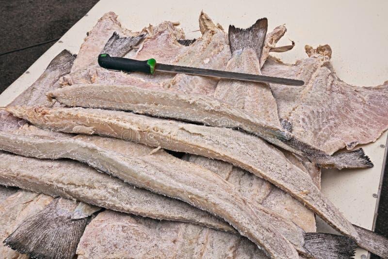 Merluzzo salato secco fotografia stock libera da diritti