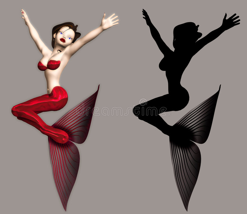 Mermaid. Fantasy figure for your artistic creations vector illustration