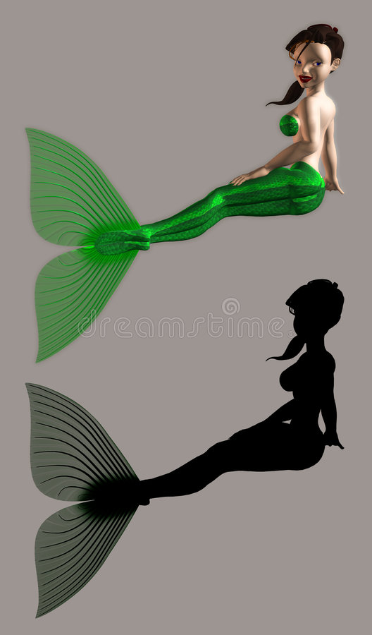 Mermaid. Fantasy figure for your artistic creations royalty free illustration