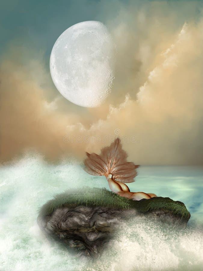 Download Mermaid stock illustration. Image of cross, bird, green - 17758779