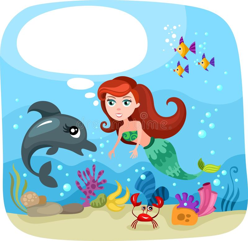 Download Mermaid stock vector. Image of life, crab, nature, currency - 27638863